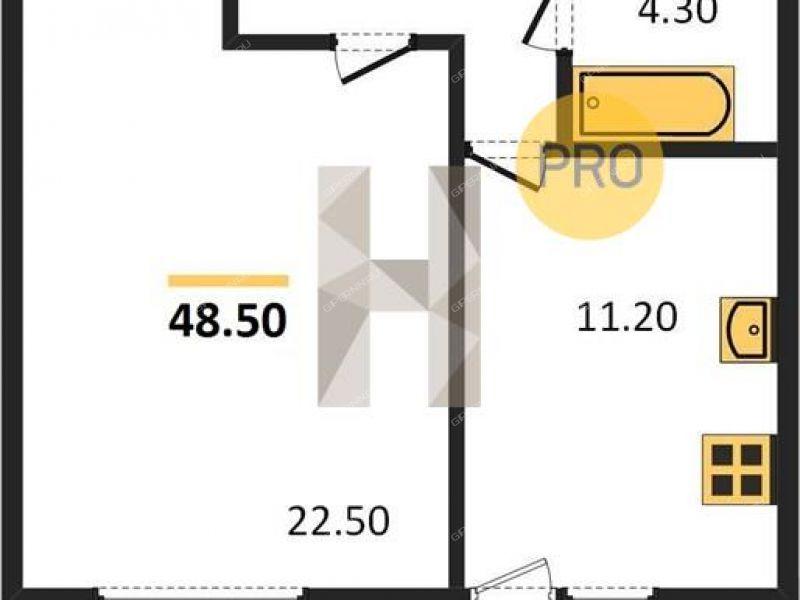 однокомнатная квартира в новостройке на проспекте Кораблестроителей