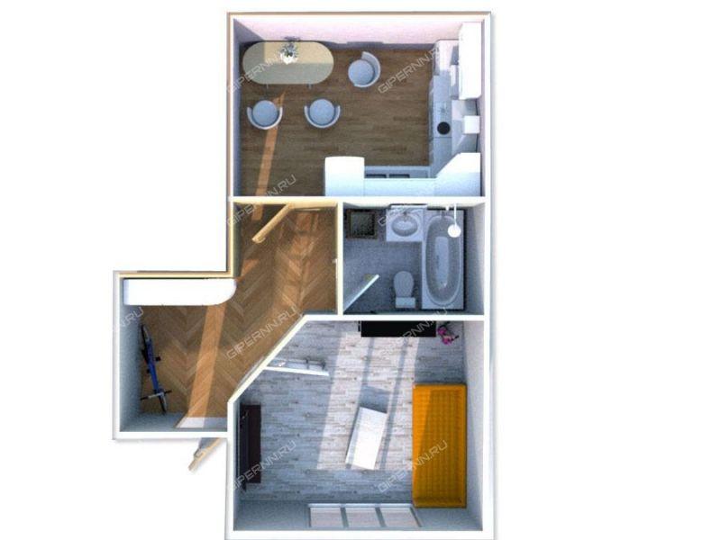 однокомнатная квартира на Ландышевая улица дом 7 город Бор