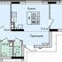 трёхкомнатная квартира в новостройке на улице Коперника, земельный участок 2