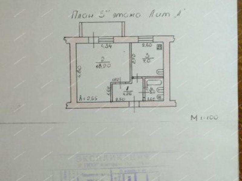однокомнатная квартира на улице Адмирала Макарова дом 57 город Кулебаки