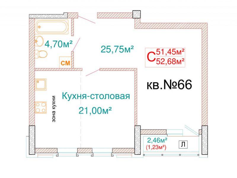 однокомнатная квартира в новостройке на улице Ленина город Бор